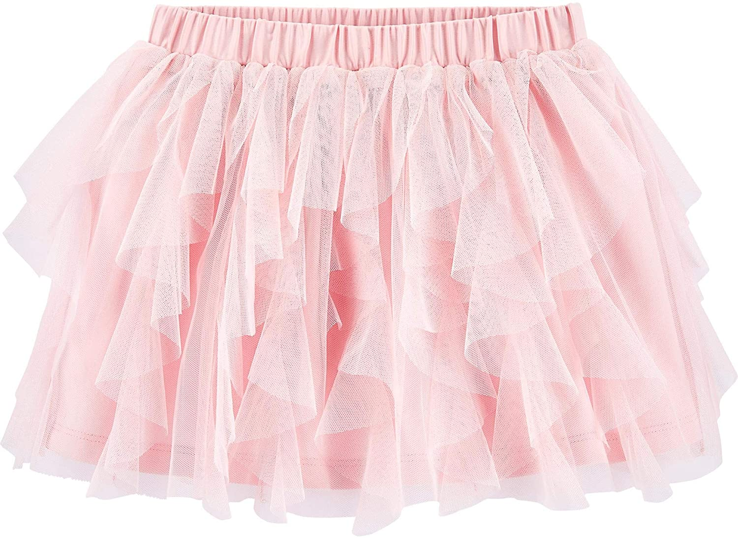 Baby B'Gosh Girls Waterfall-Style Tulle Tutu Pink Skirt with Sateen Covered Elastic Waistband 12 Months