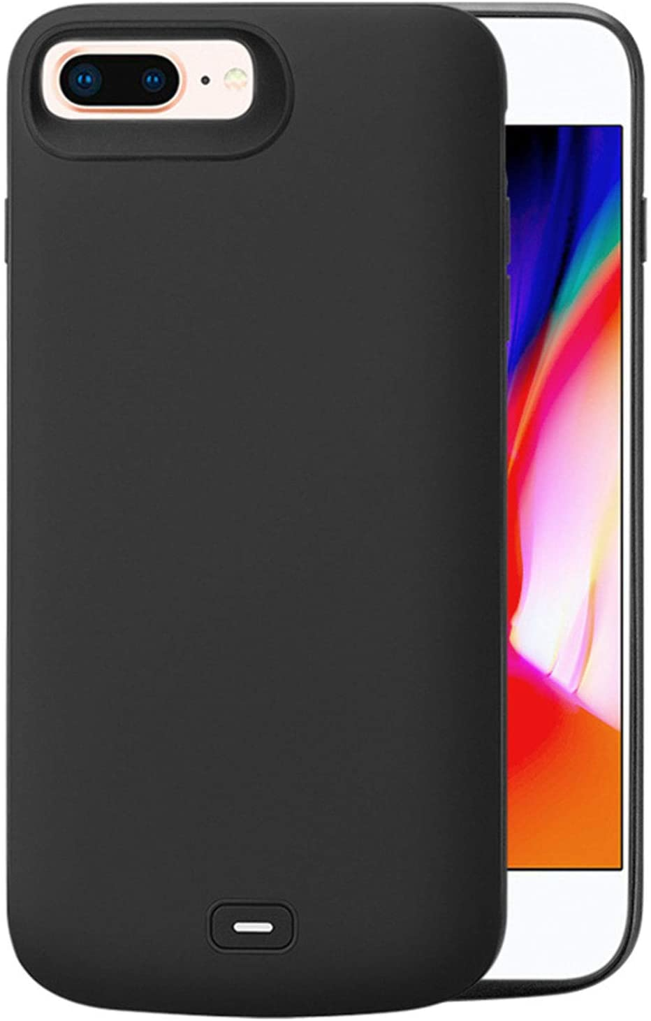 Battery Case for iPhone 6/6S/7/8, HQXHB [5500mAh] Charger Case for iPhone 6 6S 7 8 Protective Portable Charging Case Rechargeable Extended Battery Pack (4.7 inch) Support Headphone - Black