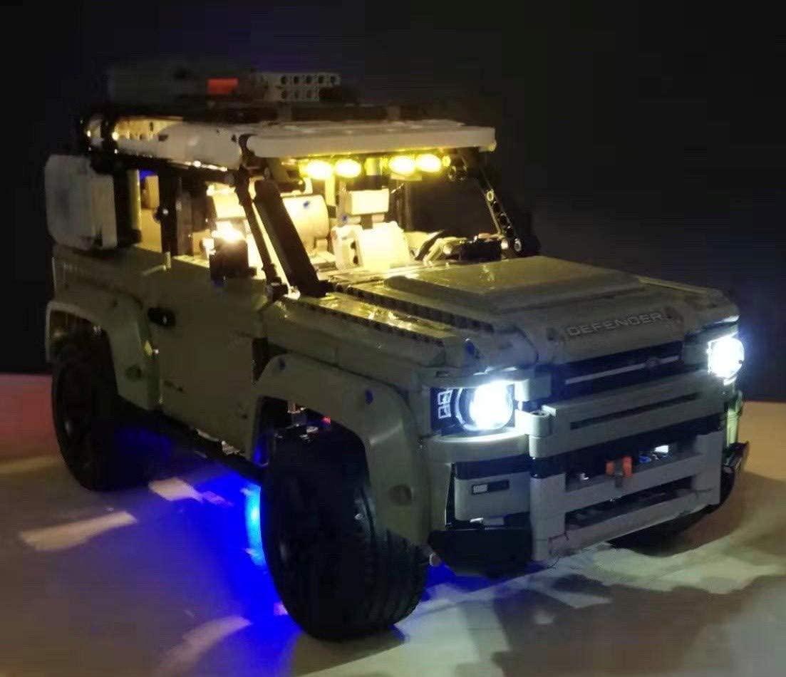 brickled LED Lighting Kit for Lego 42110 Technic Land Rover Defender (Lego Set not Included)