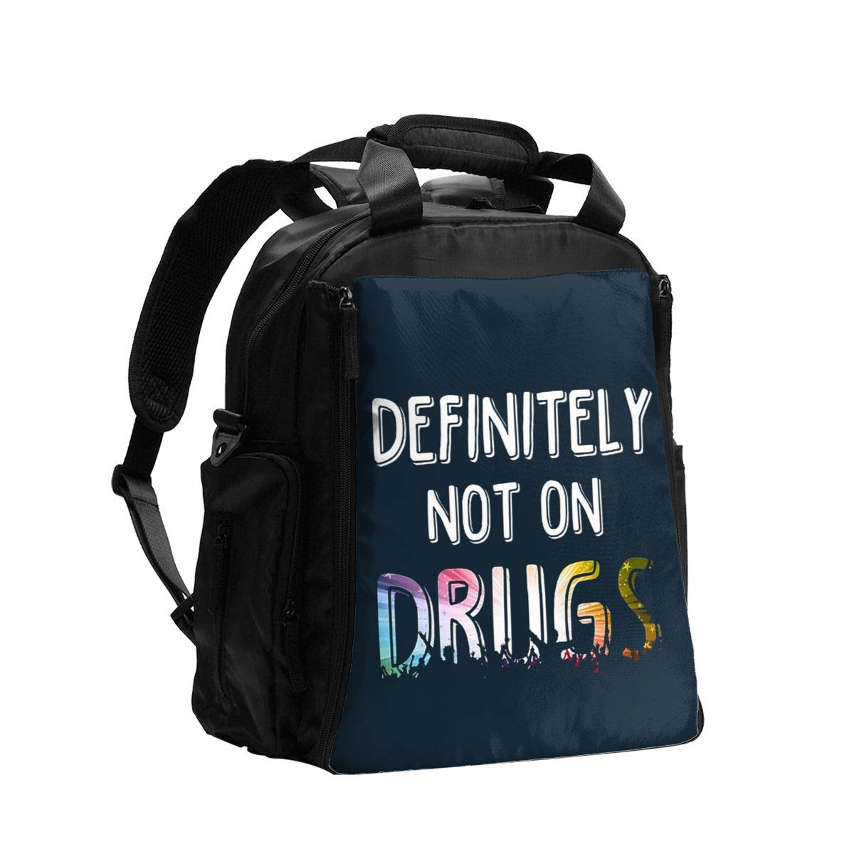 Definitely Not On Drugs Diaper Bag Backpack Travel Backpack Maternity Baby Changing Bags