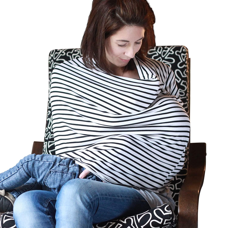 UNUMUNUM Premium Nursing Cover - Black Striped