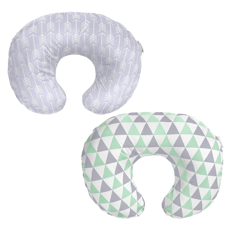 Nursing Pillow Cover – Compatible with Boppy Original Pillow - Breastfeeding Pillow Cover Boy & Girl – Feeding Pillow Cover – Soft Plush Fabric Nursing Pillow Case – Nursing Pillow Slipcover Set of 2