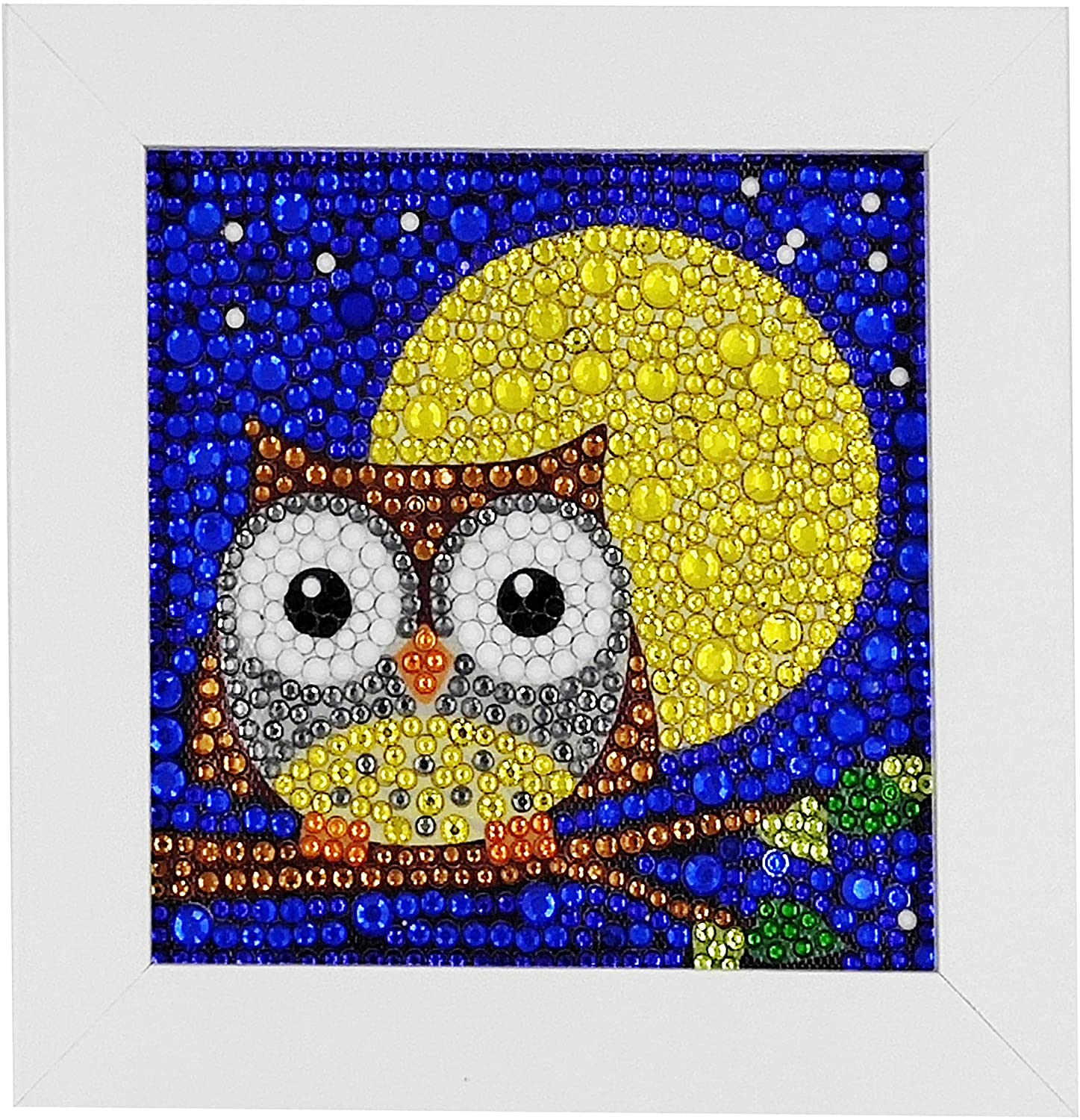 ParNarZar Easy 3D Diamond Painting Kit Owl for Kids Art Crafts Kits for Girls with Frame 6x6inches