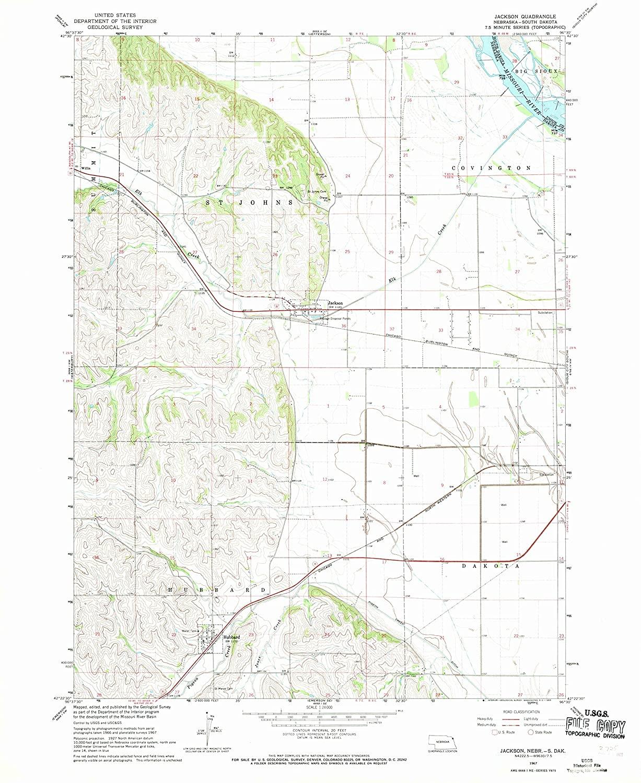 Map Print - Jackson, Nebraska (1967), 1:24000 Scale - 24