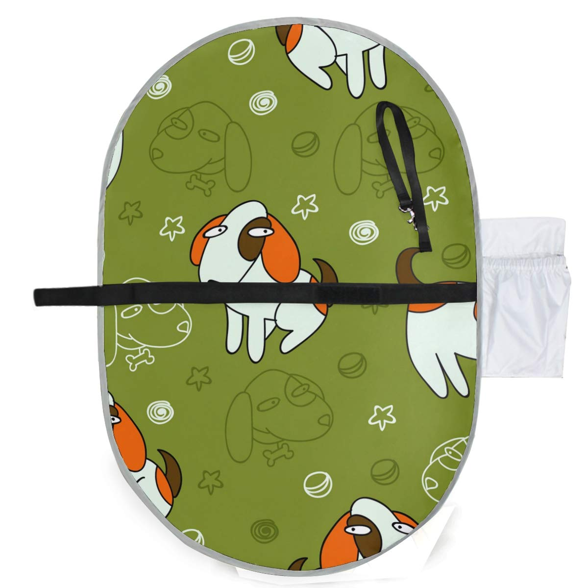 Waterproof Washable Baby Diaper Changing Pad Mat Funny Dogs Portable and Foldable Infant Large Nappy Mat 27x20 inch