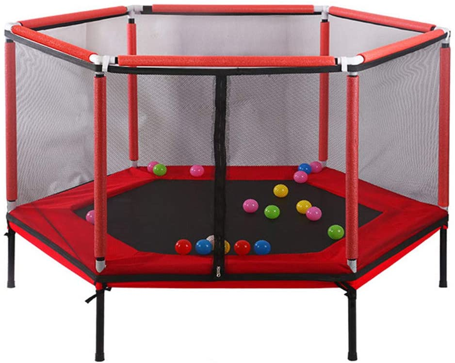 XIONGGG Round Trampoline with Safety Enclosure Trampoline for Kids Outdoor & Indoor Trampoline Fitness Trampoline