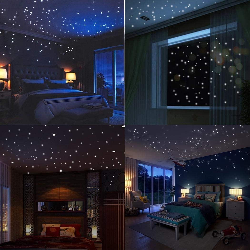 Justew Luminous Dot Living Room Children's Room Decoration Fluorescent Wall Sticker Wall Stickers