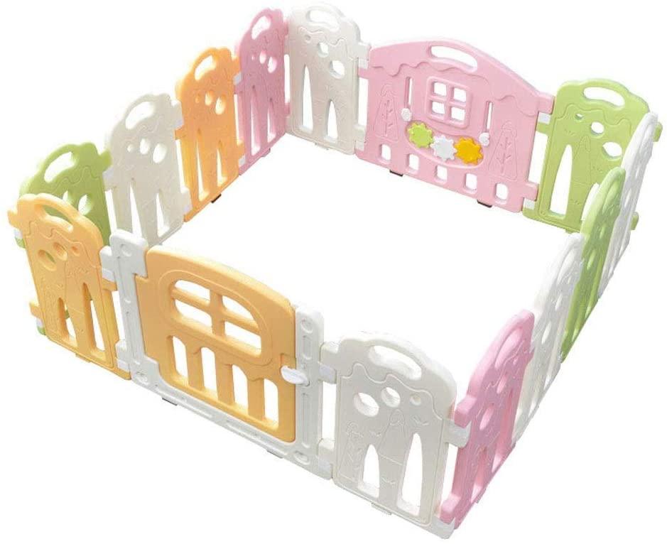 HWZQHJY Baby Playpen Kids Activity Safety Play Centre Yard Home Indoor Outdoor - 14 Panel