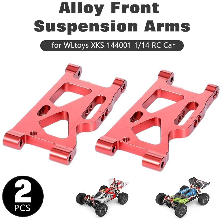 Lepeuxi for WLtoys XKS 144001 1/14 RC Car Front Aluminum Alloy Suspension Arms Replacement 2pcs