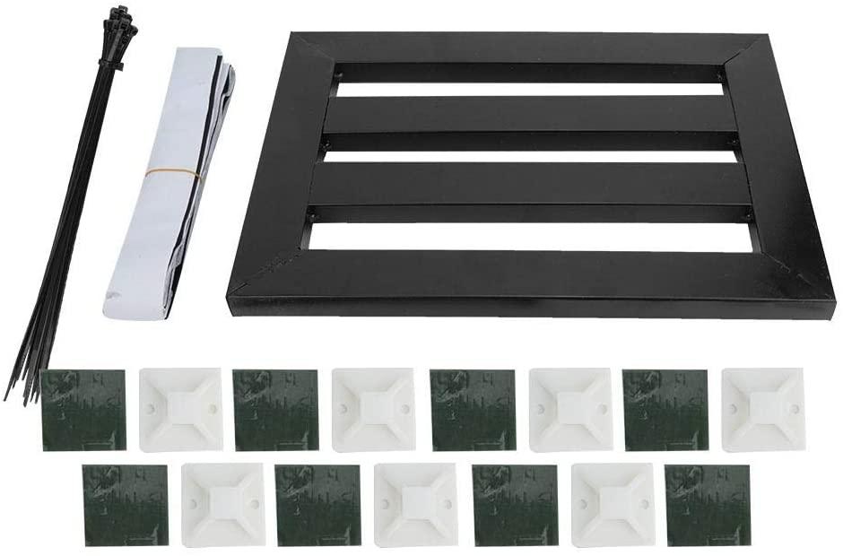 Neufday Portable Guitar Effects Pedal Board,Universal Guitar Effect Pedal Board Holder Metal Portable Peadlboard Black