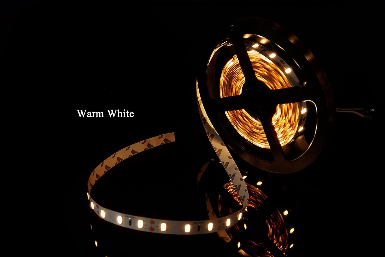MARSWALLED High CRI 95+ SMD5630 LED Strip Light Warm White 2800K-3500K EF120-140lm/W Hight Luminous Efficiency Energy-saving Non-waterproof