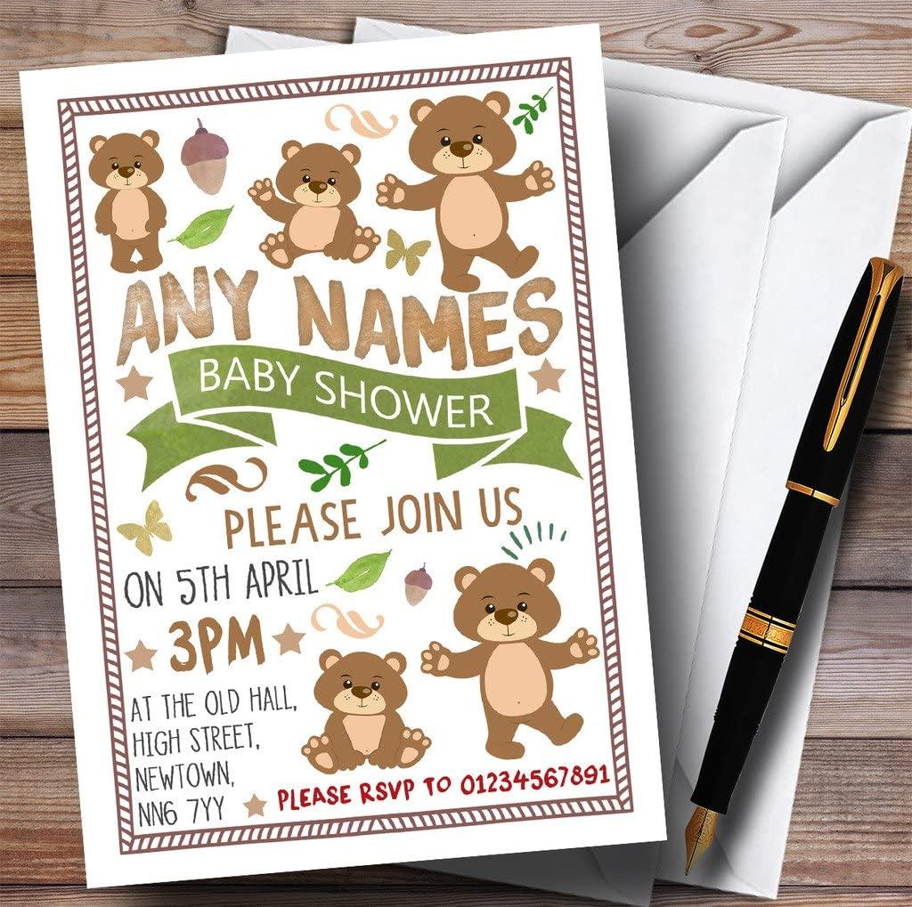 Teddy Bears Picnic Invitations Baby Shower Invitations