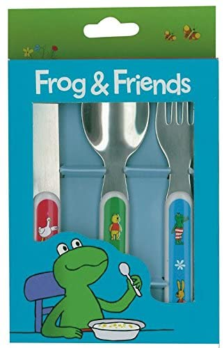 Barbo Toys - 7707 - Frog and Friends Cutlery Set (3-Piece)