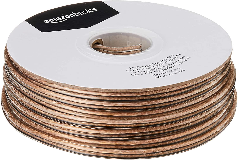 DHgateBasics 14-Gauge Audio Stereo Speaker Wire Cable - 100 Feet