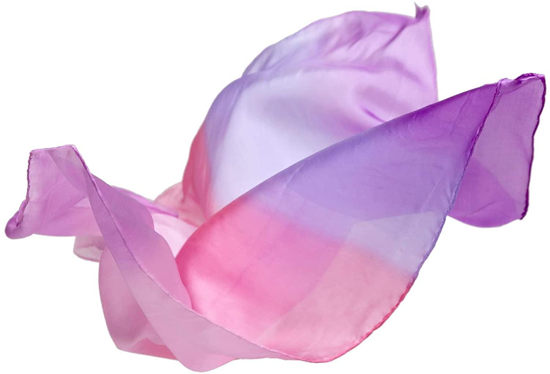 Sarah's Silks - Enchanted Playsilk, 100% Real Silk, Eco-Friendly Dye, 35-Inch Square Silk Play Scarf