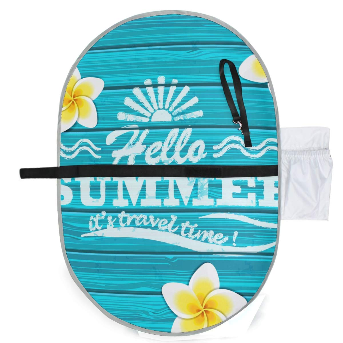Waterproof Washable Baby Diaper Changing Pad Mat Hello Summer Travel Time Portable and Foldable Infant Large Nappy Mat 27x20 inch