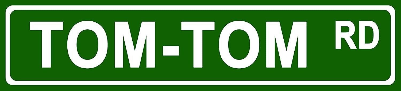 Makoroni - Tom Tom Music Instrument Aluminum Metal 4x18 inc. Decorative Street and Room Sign