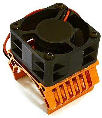Integy RC Model Hop-ups C28599ORANGE 36mm Motor Heatsink+40x40mm Cooling Fan 16k RPM for 1/10 TR-MT10E & TRX-4
