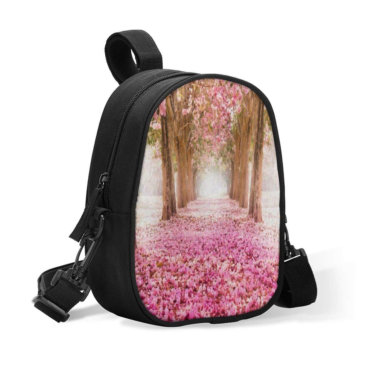 Insulated Baby Bottle Bag Wedding Pink Flower Tree Multi-Function Breastmilk Cooler Bag & Lunch Bag, Fit As Wine Carrier Or for Milk Bottles, for Nursing Mom Back to Work for 2 Large Bottles