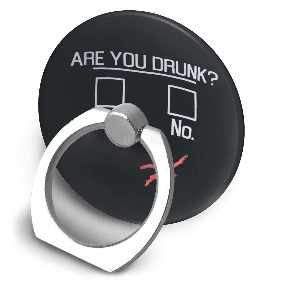 Yeorquae You Drun? Alloy Mobile Phone Ring Bracket,360 Degree Rotating Ring Stand Grip Mounts