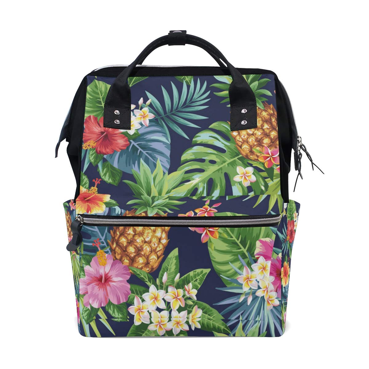 A Seed Backpack Baby Diaper Bag Pineapple Tropical Flowers for Girls Women Tote Daypack Bookbag