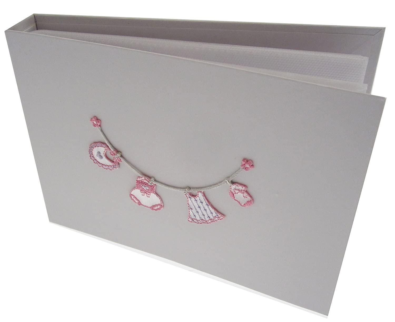 white cotton cards Value Range Baby Girl's Tiny Value Album (Pink, Washing Line)