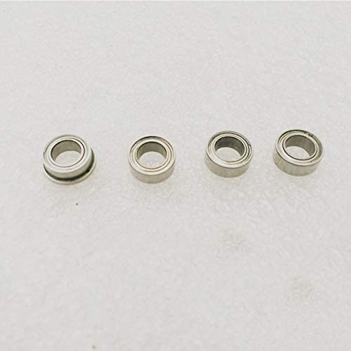 Parts & Accessories 4.76mm Flexible Shaft Bearing Outer Diameter 7mm Thickness 3mm Metal Bearings Accessories for RC Boat Model Spare Parts - (Color: 1pc 8x4.76x3 Flange)