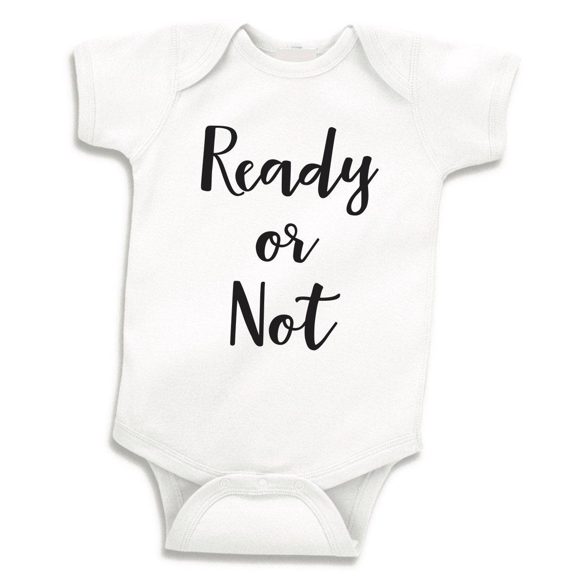 Ready or Not Pregnancy Announcement Bodysuit Newborn Baby Shower Gift (0-3 Months)