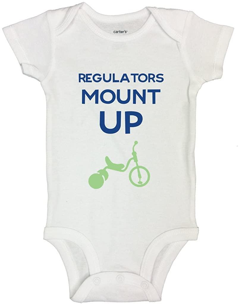 Regulators Mount Up Funny Rap Baby Onesies Kids Bodysuit