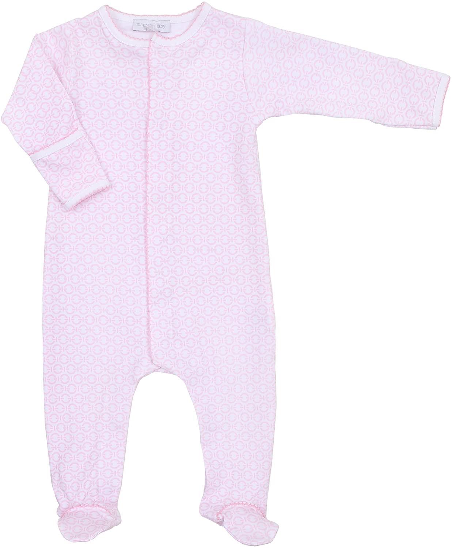 Magnolia Baby Baby Girl Little Wonders Print Footie Pink