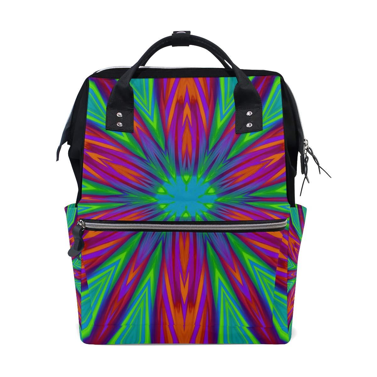 Diaper Bag Backpack Amazing Kaleidoscope Pattern Multipurpose Travel Backpack