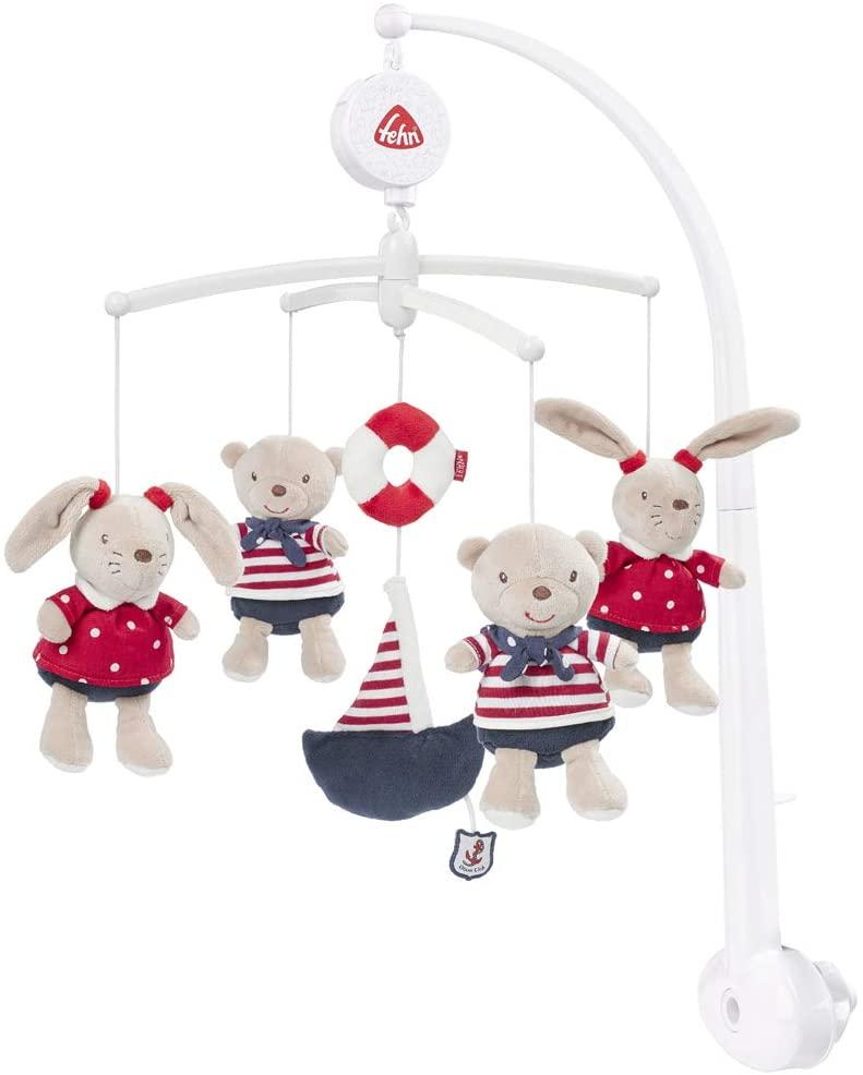 Ocean Club Fehn Musical Mobile Teddies/ Hares (Navy/ Red)