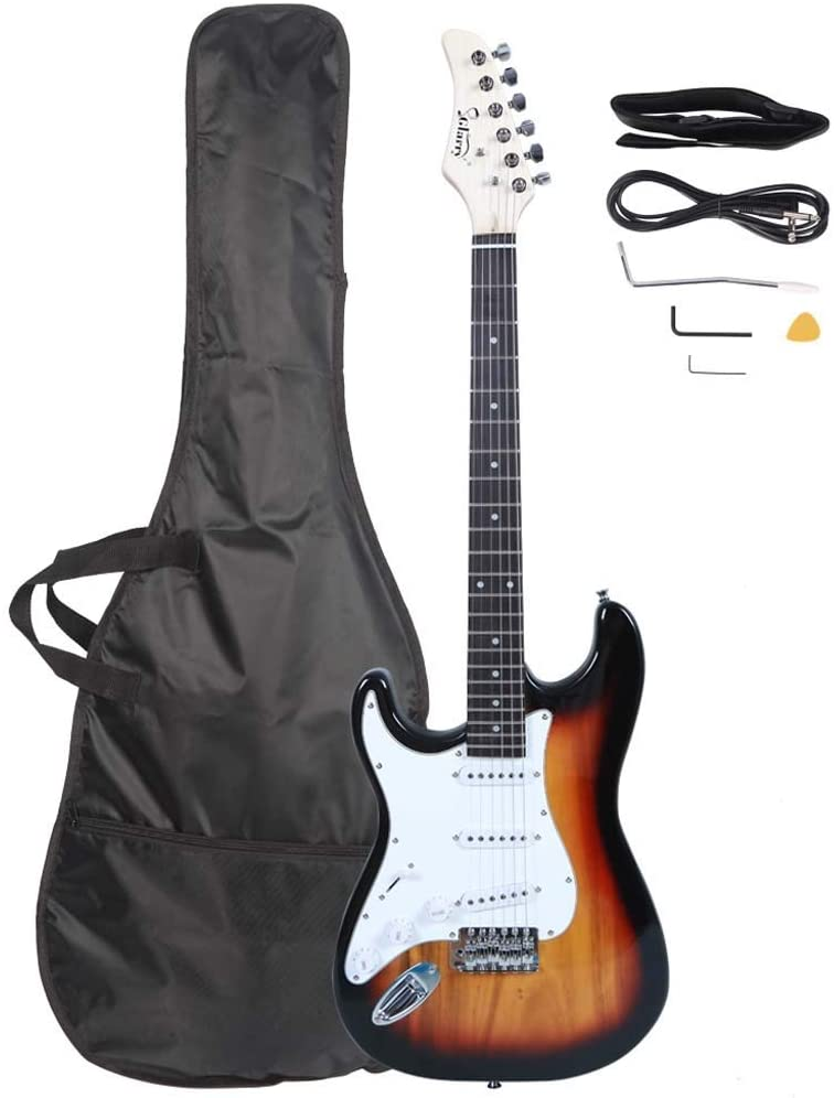 Acoustic Electric Guitars,Left Hand Acoustic Electric Travel Guitar With Case & Picks Musical Instruments For Kids Girls Boys Beginners Adult Gifts