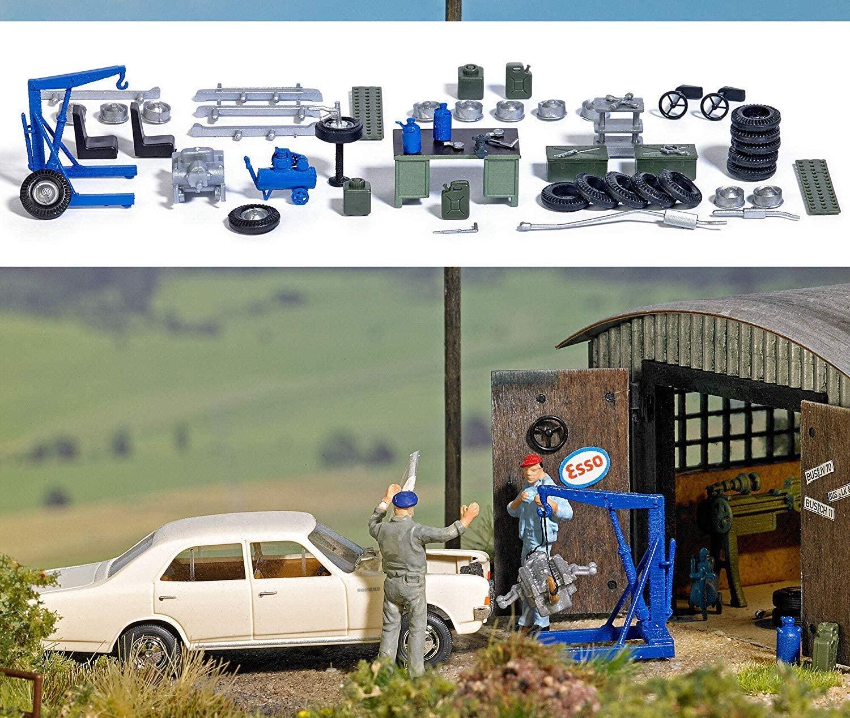 Busch 1184 Garage Equipment Set HO Scenery Scale Model Scenery
