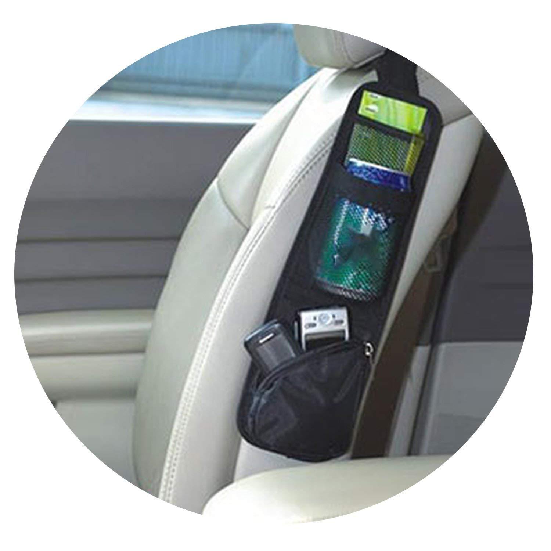 1Pc Car Storage Bag Seat Organizer for Stowing Tidying Auto Seat Side Bag Hanging Pocket Bags,Black