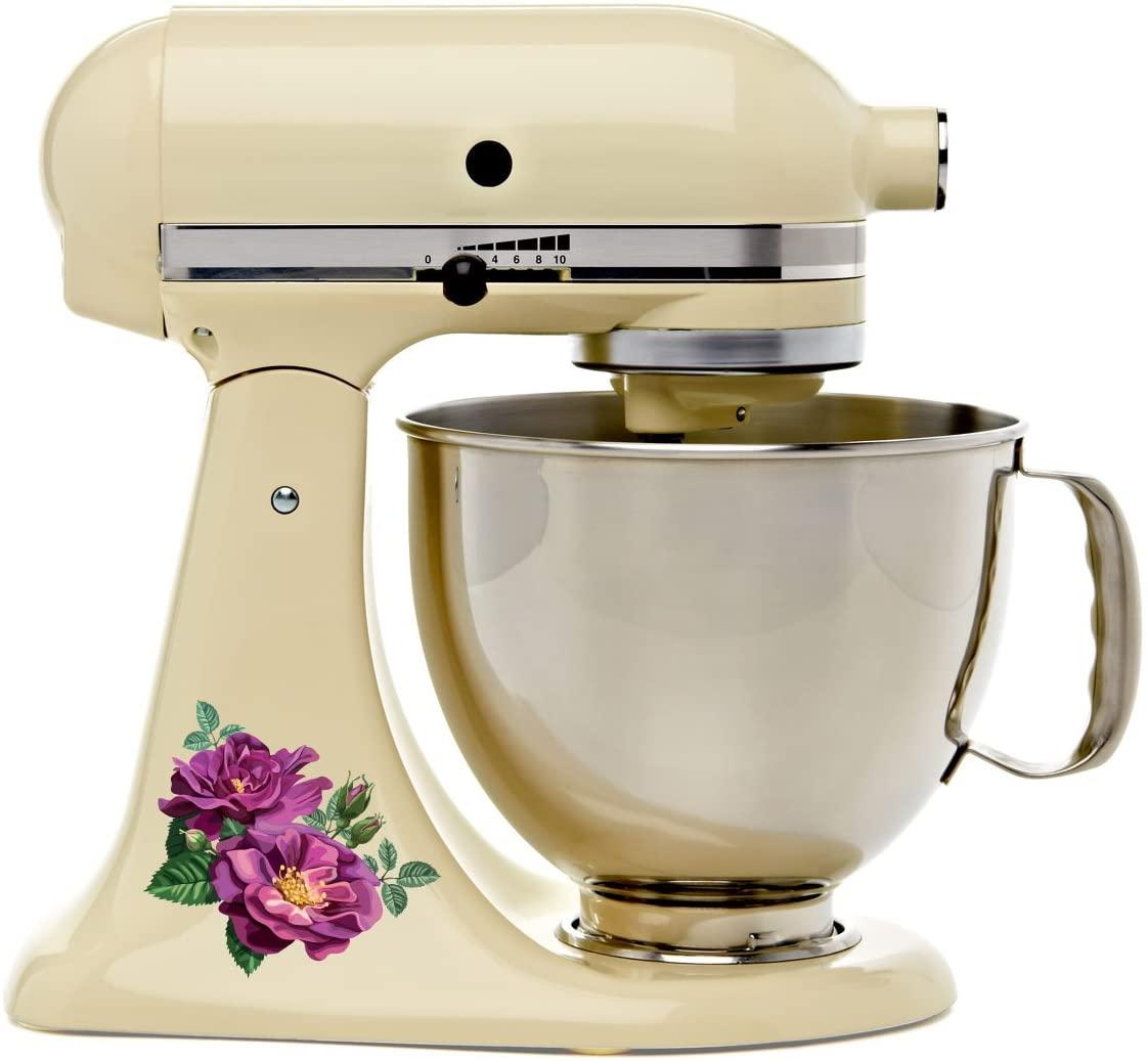 Purple Roses Bakery Kitchen Mixer Mixing Machine Decal Art Wrap