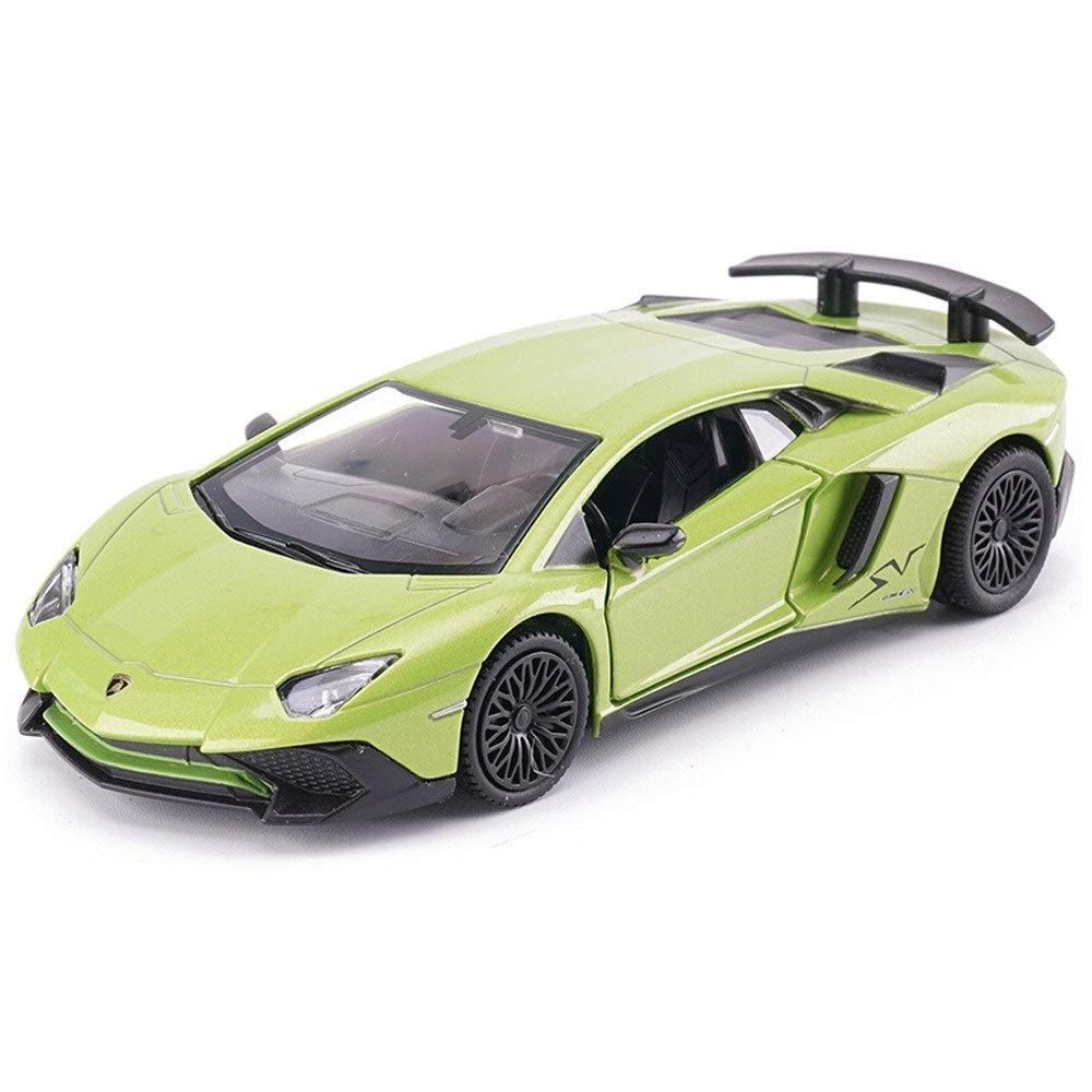Kikioo Sound and Light Alloy Children's Toy Pull Back Sports Car Mini 1:24 Children's Toy Racing Car Ornaments,Car Model Kits for Kids,Alloy Pull Back Vehicles Toy Car for Toddlers Kids Boys Girls