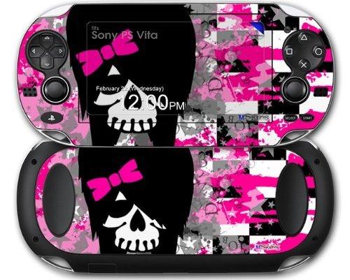 Sony PS Vita Decal style Skin - Scene Girl Skull (OEM Packaging)