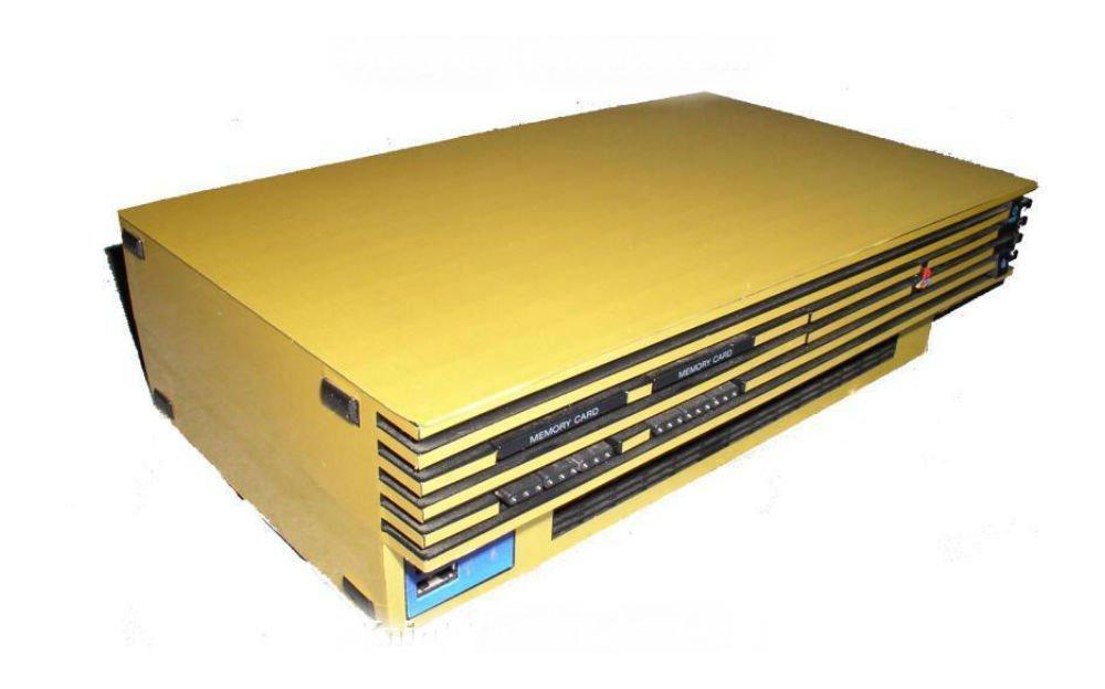 PS2 & Playstation 2 SLIM GOLD Skin Case Mod Sticker NEW