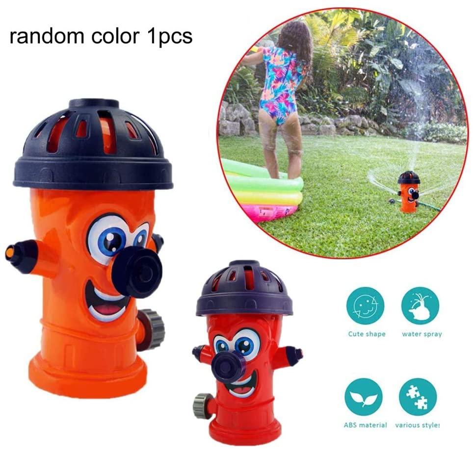 Fire Hydrant Garden Hose Sprinkler Cute Fire Hydrant Kids Sprinkler Children Bath Toys Summer Sprinkler Toy Outdoor Toy for Children Random Color