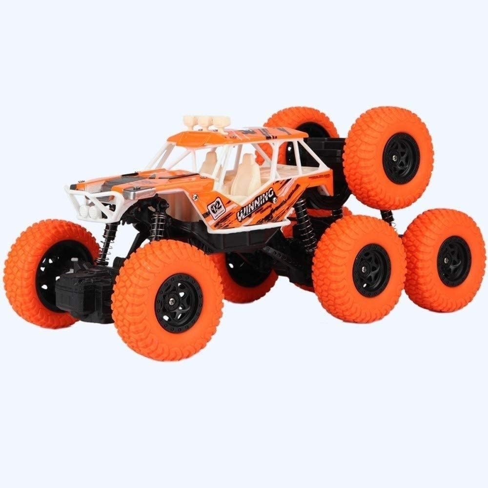 Xuess Rc Remote Control Stunt Car Four-Wheel Drive Boy Toy SUV Toy Car Radio Remote Control Racing Cars Climbing Car Off-Road High Speed Racing RC Cars Buggy Educational Toys (Color : Orange)