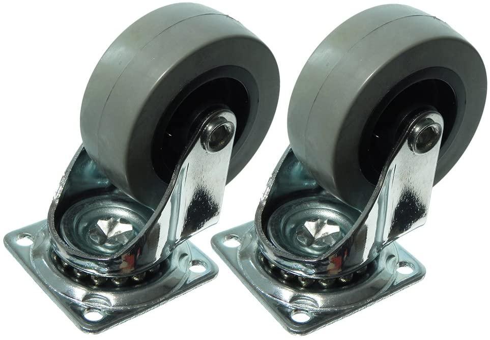 100 x Plate FIX Single Caster Dolly Wheels Heavy Duty Swivel 50MM (2