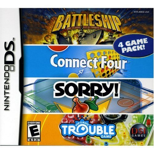 Battleship/Connect 4/Sorry/Trouble - Nintendo DS (Renewed)