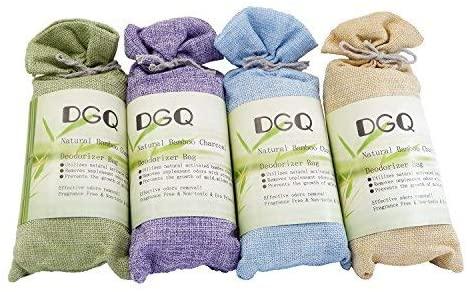 DGQ Upgrade 4Packs X 150g Natural Bamboo Charcoal Bag-Nature Air Purifier,Air Freshener,3Times The Adsorption Capacity of Normal Active Charcoal …