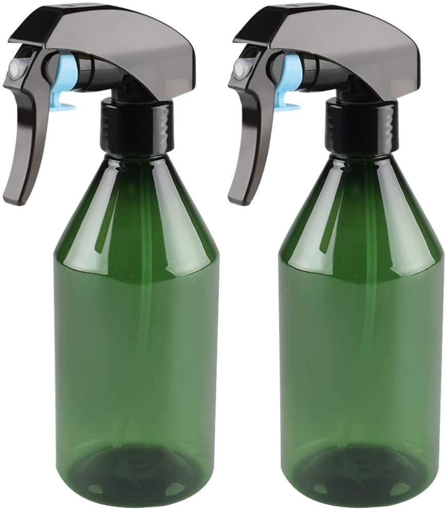 DOITOOL 2PCS 300ml Plastic Spray Bottles for Cleaning Solutions Empty Spray Bottle for Plants Garden Water Sprayer Leak-Proof Mist Empty Water Bottle (300ml,Green)