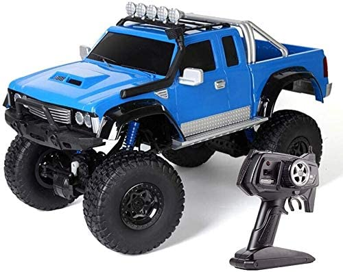 Xuess Rc Remote Control Stunt Car 1:8 Large Wireless Remote Off Road RC Truck 2.4Ghz Radio Control Four-Wheel Drive Vehicle Racing Car Toy Rock Crawler Crawlers Chariot (Color : Blue)