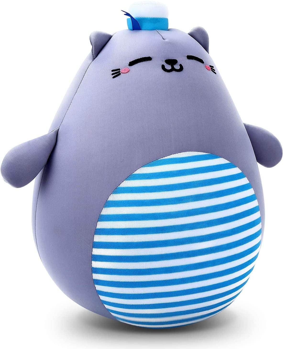 Sheepet Plush Cute Cat Pillow - Stuffed Cotton Soft Animal Toy,Gray 14