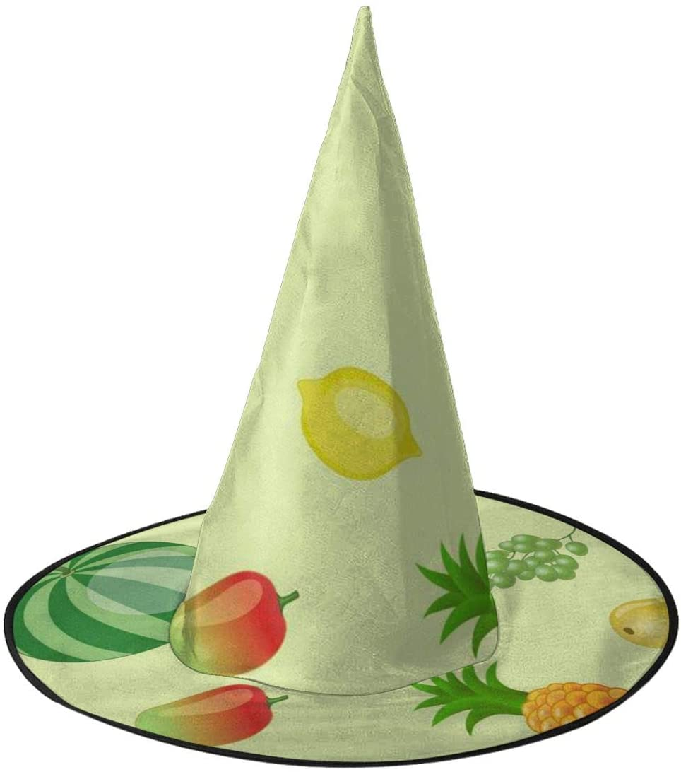 Halloween Witch Hat,Watermelon Grape Lemon Banana Halloween Costume Witch Hat for Holiday Party