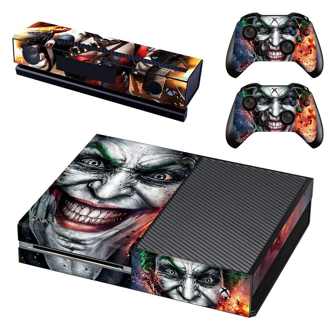 Adventure Games - XBOX ONE ORIGINAL - Joker, Harley Quinn - Playstation 4 Vinyl Console Skin Decal Sticker + 2 Controller Skins Set