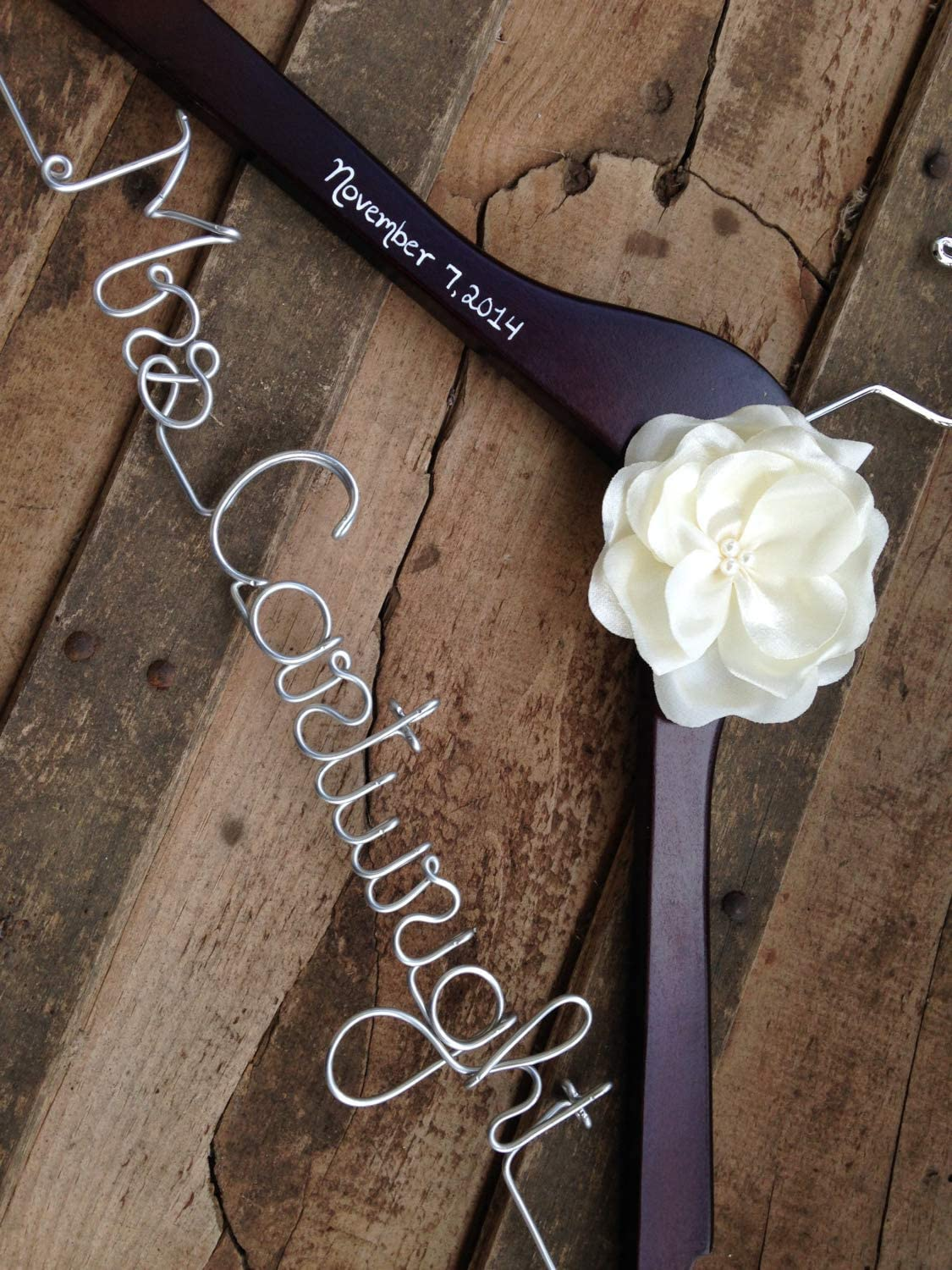 Flowershave357 Personalized Hanger Wedding Dress Hanger Custom Bride to Be Hanger Unique Bridal Shower Gift Engagement Gift Wedding Gifts